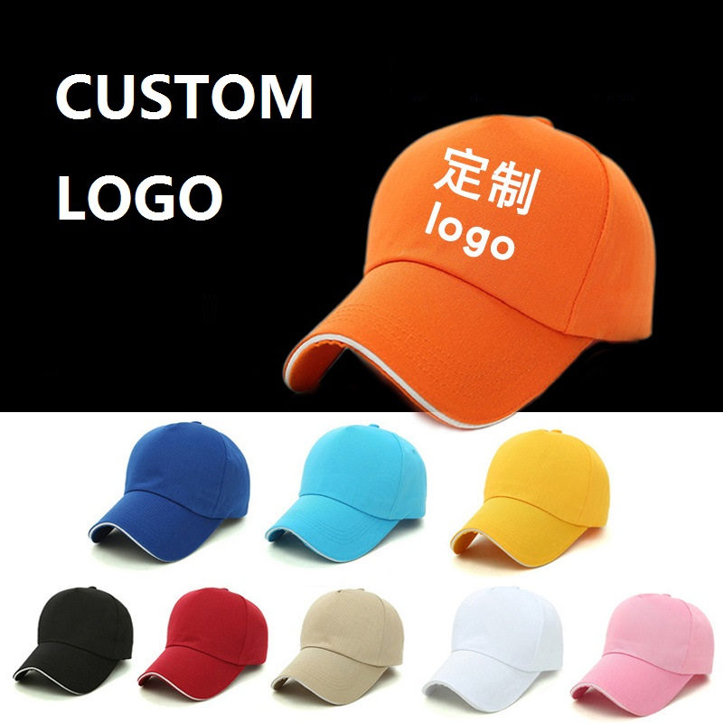 3D Embroidery logo 5Panels Baseball Cap With Sandwich Edge-wrapping Brim