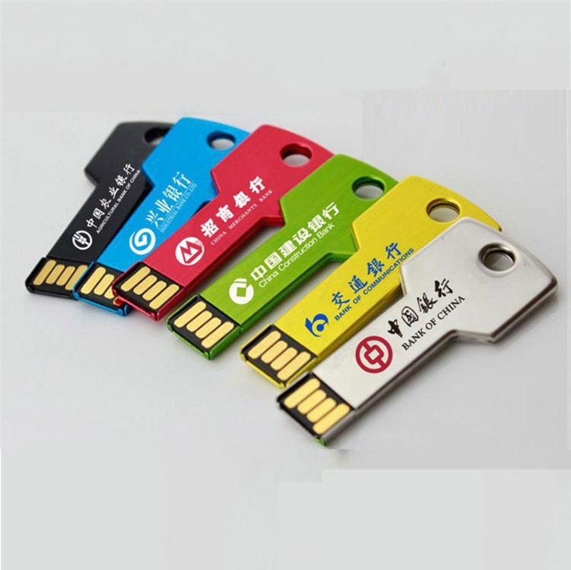 Key Shaped Metal USB Flash Drive