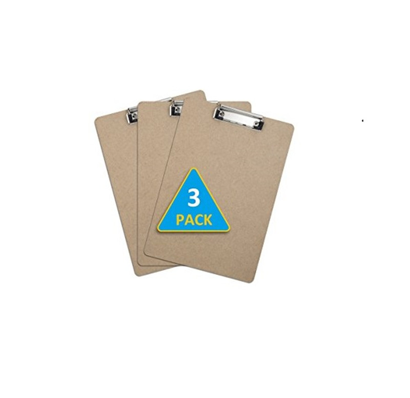 3Packs/box Letter Size MDF Clipboard