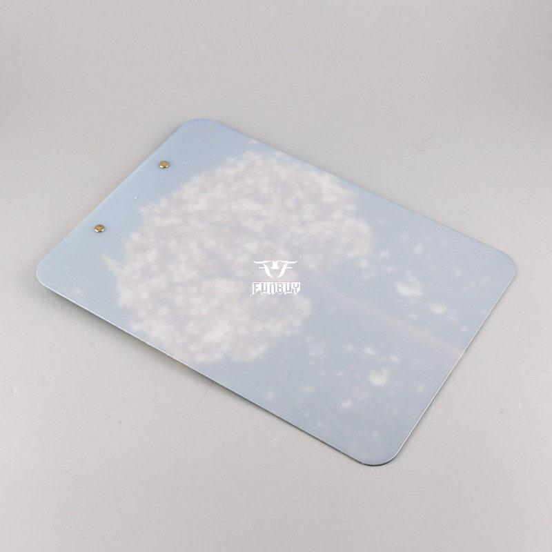 Full color UV printing Matte Surface Plastic Clipboard with Low-profile clip