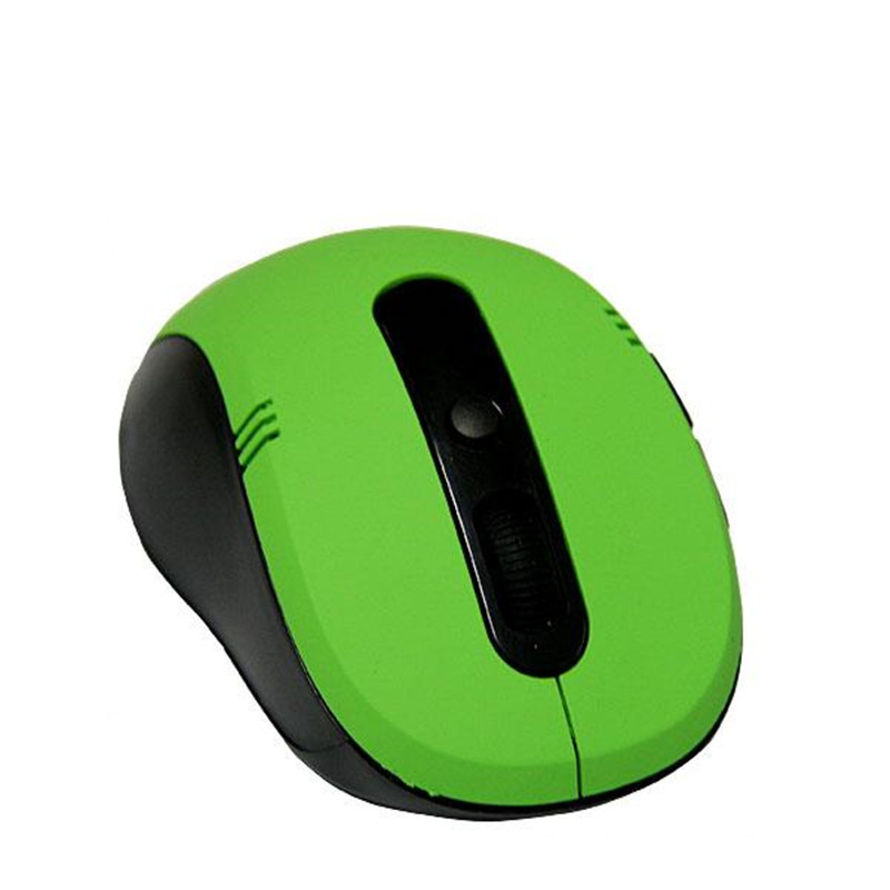 Green color Mini wireless optical mouse