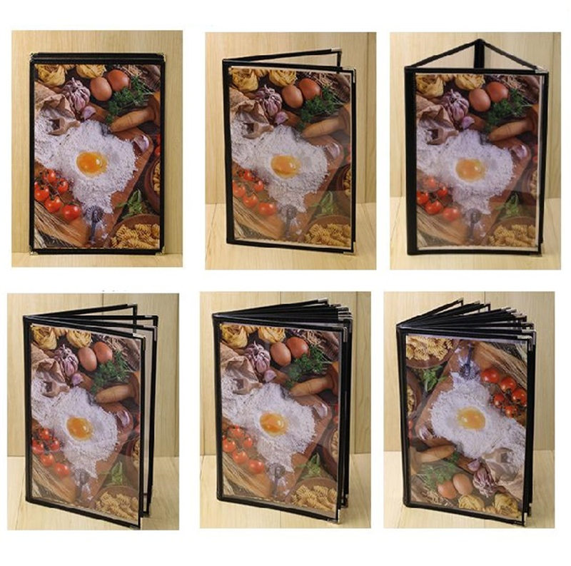 A4 Size 1-12pages PVC Menu Cover