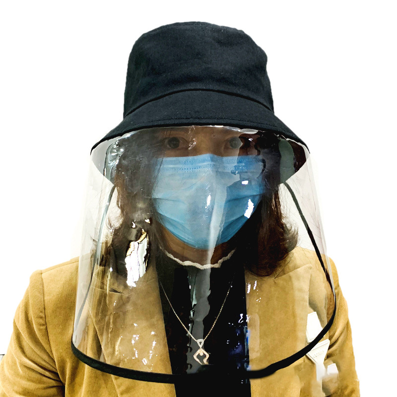 Unisex Antivirus Anti Flu Droplets Coronavirus Virus fisherman's cap  Protective fisherman's hat With Face Shield
